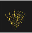 golden confetti background vector image vector image