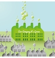 Green Company and Factory abstract Background vector image vector image