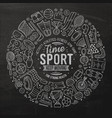 hand drawn set sport cartoon doodle vector image vector image