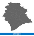 high quality map of city in switzerland vector image
