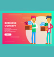 hired businessman sees off the dismissed employee vector image vector image