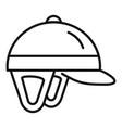 horseback riding helmet icon outline style vector image