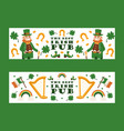 irish pub banners st vector image vector image
