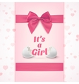 its a girl template for bashower celebration vector image