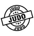 judo round grunge black stamp vector image vector image