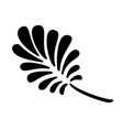 leaf icon black and white vector image vector image