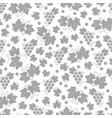 leaves and grapes seamless pattern design vector image