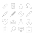 Medicine and Health line icons vector image vector image