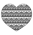 Mehndi Indian Henna tattoo heart seamless pattern vector image vector image