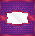 Purple ornamental frame vector image