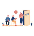 recruitment job interview concept unemployed vector image