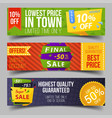 set isolated labels for limited winter offer vector image