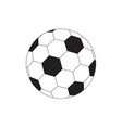 soccer football sport flat thin line design icon vector image vector image
