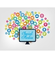 Social media and networking vector image vector image