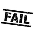 square grunge black fail stamp vector image vector image