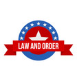 stars law constitution day logo icon flat style vector image