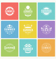 summer holidays design elements and typography vector image vector image