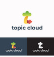 topic cloud abstract sign symbol or logo template vector image vector image