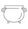 vintage cauldron icon outline style vector image