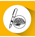 whiting brain school knowledge vector image vector image