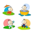 Playing childs vector image