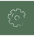 Gear icon drawn in chalk vector image