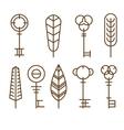 Icons Keys vector image