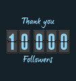 10000 followers greeting card vector image vector image