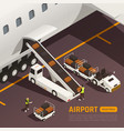 aircraft baggage loading background vector image