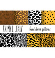Animal skin hand drawn texture seamless pattern vector image vector image