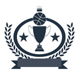 Basketball Golden Goblet and Crown vector image vector image