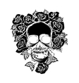Black skull vector image vector image