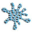 blot mosaic of handshake icons vector image vector image