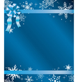 blue christmas card with ribbon vector image vector image