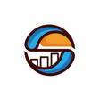 burger business chart logo designs simple modern vector image