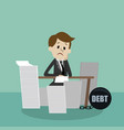 businessman finding himself going to be busy vector image