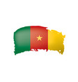 cameroon flag on a white vector image