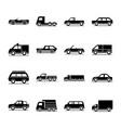 car model delivery truck passenger public vector image vector image