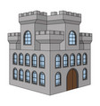 castle gray old building with multiple windows vector image vector image