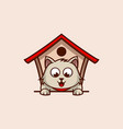 cat home logo vector image
