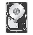 computer hard disk drive vector image