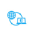 computer network connection to server icon vector image vector image