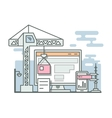 Construction website linear style vector image vector image