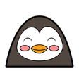 cute penguin face cartoon