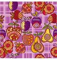 cutesy scrapbook pattern vector image vector image