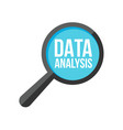 data analysis word magnifying glass vector image