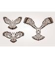 decorative birds set vector image