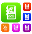 dictaphone set collection vector image vector image