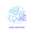 early adopters concept icon