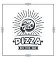 emblem pizza vector image